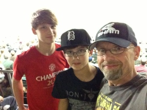 With my sons at Regions Park, 2013