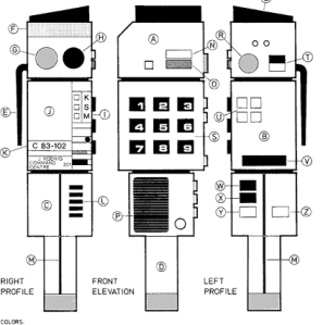 An image from my Space 1999 technical manual dad used to make my own CommLock (yes I am a nerd)