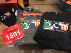 Two Cities Marathon is heavy on the swag