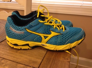 Mizuno Wave Precision 13. LOVE these colors.  A great shoe