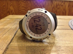 Suunto Ambit.  Great Watch for roads or trails with incredible battery life