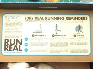 Inside the box, running tips