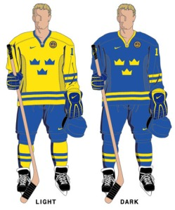 these shoes remind me of the Swedish Hockey uniform. Love the color way