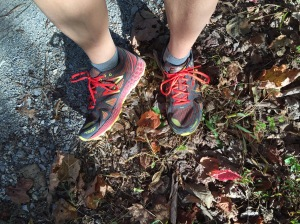 """Nice cushioning for this shoe, with the """"Fresh Foam."""" Handles those parts of trail races that have road component"""
