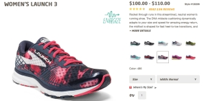 Women's Launch 3 and color ways